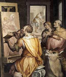 st Luc  peinture  la  vierge  détail