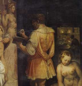 The Studio of the Painter (detail)