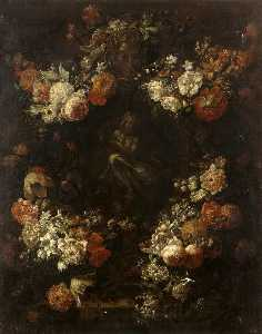 Apollo the Kithara Player Framed with a Garland of Flowers