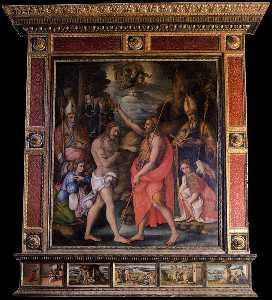 Baptism of Christ with Saints