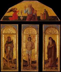 Triptych of St Sebastian