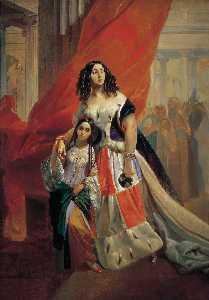 Princess Yuliya Pavlovna Samoilova Leaving a Ball with Adopted Daughter Amacilia Pacini