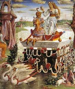 Allegory of April: Triumph of Venus (detail)