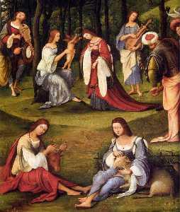 Court of Isabella d'Este (detail)