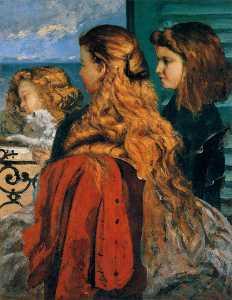 Three English Girls at a Window