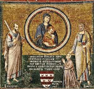 Apse: St Peter Recommending Bertoldo Stefanschi to the Virgin