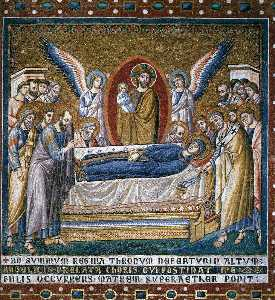 Apsidal arch: 6. Dormition of the Virgin