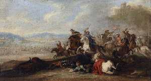 Cavalry Battle between Christians and Turks