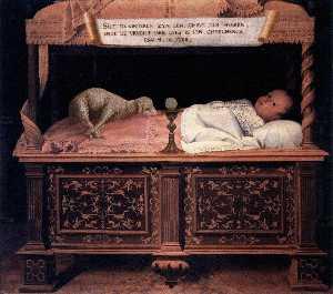 Portrait of a Newborn in a Cradle