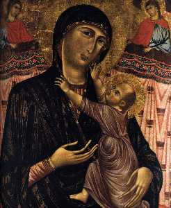 Virgin with Child Enthroned and Two Saints
