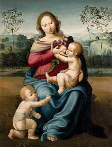 Virgin Nursing the Child with the Infant John the Baptist