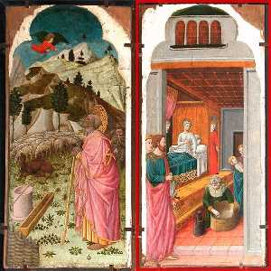 The Angel Appearing to Joachim The Birth of the Virgin