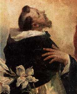 Virgin and Child with Sts Dominic and Rosa of Lima (detail)