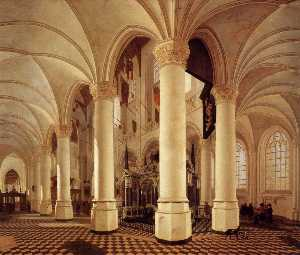 Ambulatory of the New Church in Delft with the Tomb of William the Silent