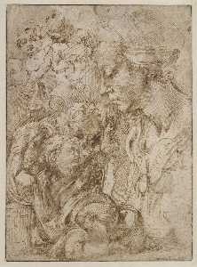 Study for an Annunciation (recto)