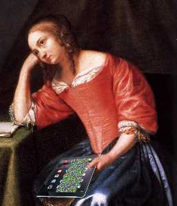 Young Girl Holding a Letter (detail)