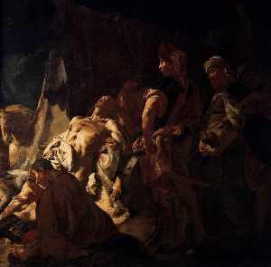 la morte di Dario  particolare