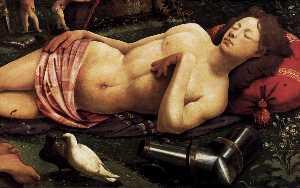 Venus, Mars, and Cupid (detail)