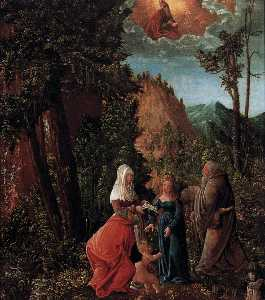 The Holy Family in a Forest