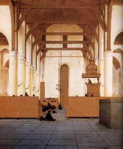 Interior of the Church of St Odulphus, Assendelft (detail)