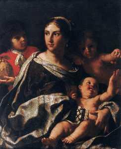 アンナの肖像 マリア ranuzzi marsigli として チャリティ
