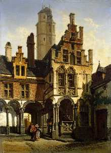 Courtyard of the Palace of Marguerite of Austria in Mechelen
