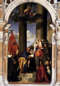 Madonna with Saints and Members of the Pesaro Family
