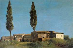Farm-buildings at the Villa Farnese: the Two Poplar Trees