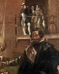 Prince Baltasar Carlos with the Count-Duke of Olivares at the Royal Mews (detail)