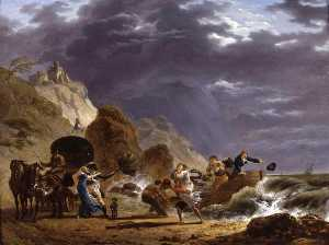 Arrival of Emigres with the Duchess of Berry on the French Coast