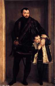 Portrait of Count Giuseppe da Porto with his Son Adriano