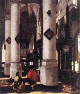 Interior of the Nieuwe Kerk in Delft
