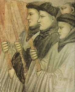 Scenes from the Life of Saint Francis: 4. Death and Ascension of St Francis (detail) (12)