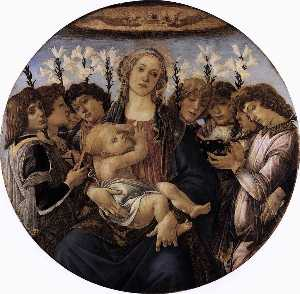 Madonna and Child with Eight Angels