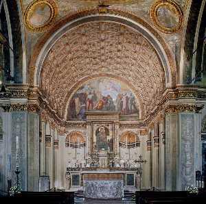 Interior view toward choir