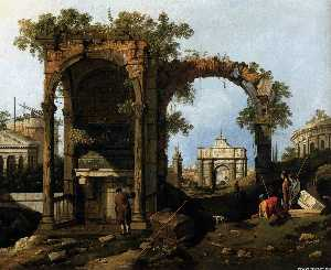 Capriccio with Classical Ruins and Buildings