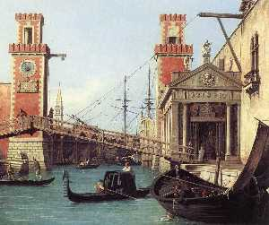 View of the Entrance to the Arsenal (detail)
