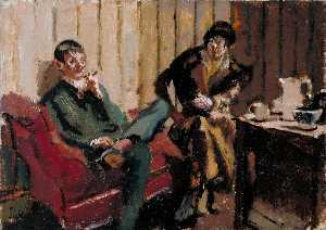 The Little Tea Party: Nina Hamnett and Roald Kristian