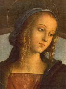 The Madonna between St. John the Baptist and St. Sebastian [detail]