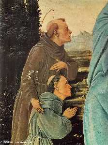 Madonna with Child, St Anthony of Padua and a Friar (detail)