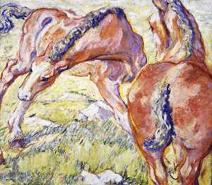 Mare with a Foal (also known as Horses in the Morning Sun)