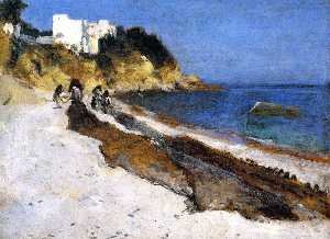 Moroccan Beach Scene (also known as The Coast of Algiers)