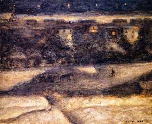 Night Scene, Samaden