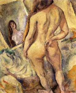 Nude in Front of a Mirror