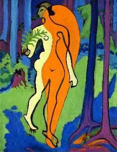 Nude in Orange and Yellow