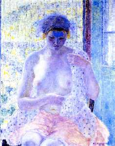 Nude in Window (also known as Seated Female, Semi-Nude)