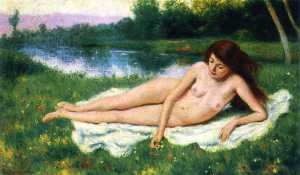 Nude Outdoors (also known as Nude Woman on the Lawn)