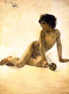Nude with Ball