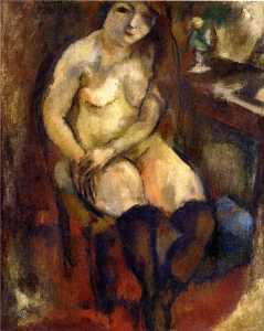 Nude with Black Stockings