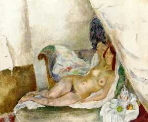 Nude with Drapery